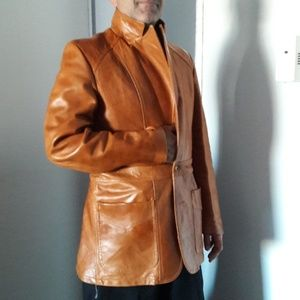 EXQUISITE REMY  MENS LEATHER JACKET